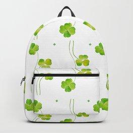 green clover leaf pattern watercolor Backpack