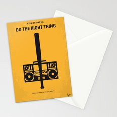No179 My Do the right thing minimal movie poster Stationery Cards