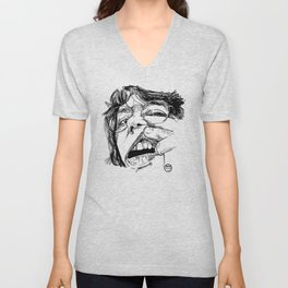 Self-portrait with a tooth Unisex V-Neck
