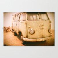 van Canvas Prints featuring Van by Littlekoala