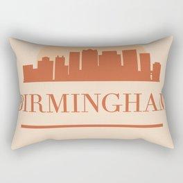 BIRMINGHAM ENGLAND CITY SKYLINE EARTH TONES Rectangular Pillow