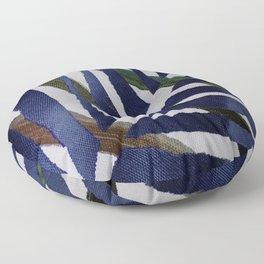 Jungle Blue Sun Floor Pillow