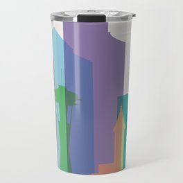 Shapes of Seattle accurate to scale Travel Mug