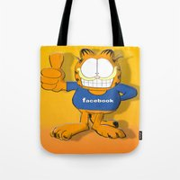 garfield Tote Bags featuring GARFIELD by Dano77