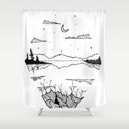 Round Valley W Shower Curtain