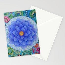Violet Flower Mandala Stationery Cards