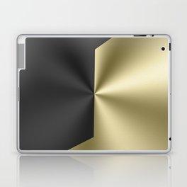 Black and gold geometric design faux metallic look Laptop & iPad Skin