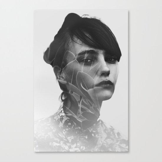 Lady Leaves Canvas Print