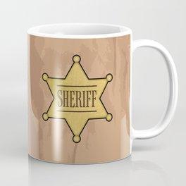 Wild West Sheriff's Badge Coffee Mug