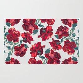 Roses  Pattern Rug