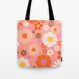 Groovy 60's Mod Flower Power Tote Bag
