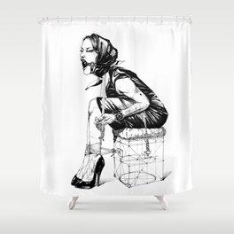 Damsel in Silk Scarf Shower Curtain