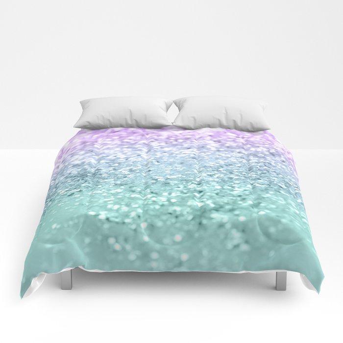 Mermaid Girls Glitter #1 #shiny #decor #art #society6 Comforters