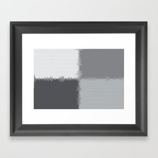 QUARTERS #1 (Greys) Framed Art Print