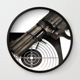 Air gun pistol revolver and a target Wall Clock
