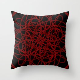 Defined by Red Throw Pillow