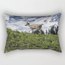 Deer Heading Up the Mountain, No. 1 Rectangular Pillow
