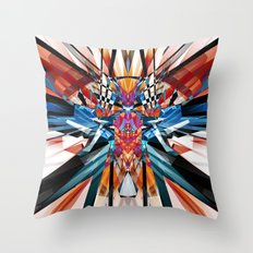 Mirror Image Abstract Throw Pillow