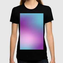 ABSTRACT GRADIENT BLURRY COLORFUL T-shirt