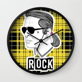 Karl Rocks (plaid) Wall Clock