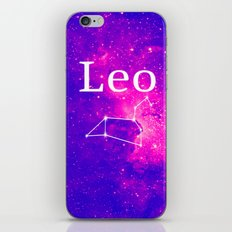 Starry Leo Constellation iPhone Skin