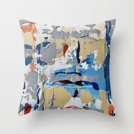 Miniature Original  - blue Throw Pillow