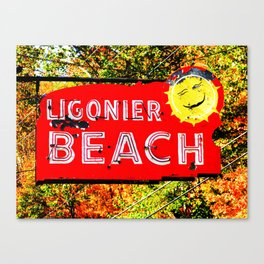 Ligonier Beach Canvas Print