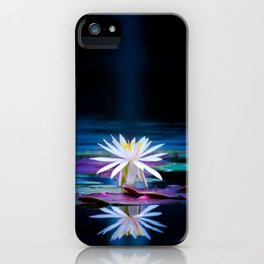 Moonlit Lotus iPhone Case
