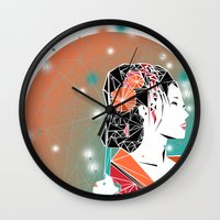 geisha Wall Clocks featuring GEISHA by ARCHIGRAF