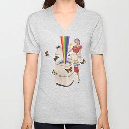 Rainbow Washing Machine Unisex V-Neck
