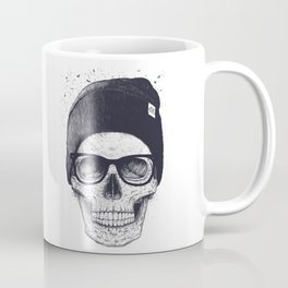 Grey Skull in a hat Coffee Mug