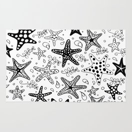 Stars of the Sea BW Rug