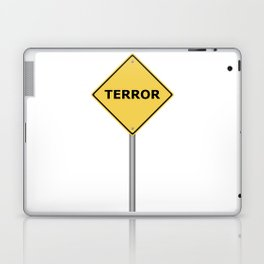 Terror Warning Sign Laptop & iPad Skin