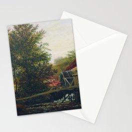 An Old Mill 1859 By Lev Lagorio | Reproduction | Russian Romanticism Painter Stationery Cards