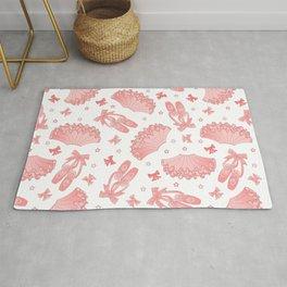 Pink Ballet Pattern Rug