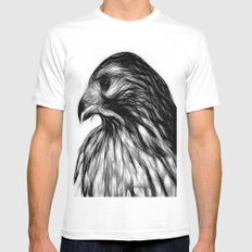 Hawk, v8 stripped White MEDIUM Mens Fitted Tee