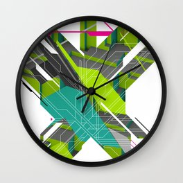 Abstract Green Wall Clock