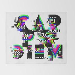 Carpe Diem #typography #lettering #glitchart #buyart #society6 Throw Blanket