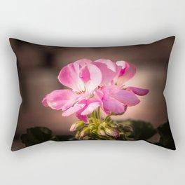 Geranium flowers in sunshine Rectangular Pillow