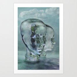 Glasmensch im Internet Art Print