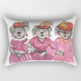Red Hat Ladies off to Lunch Rectangular Pillow