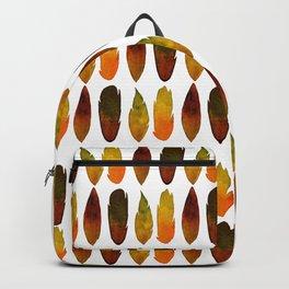 Orange feathers Backpack