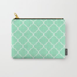 Quatrefoil - Mint Carry-All Pouch