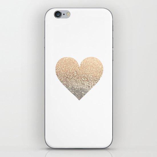 GOLD HEART iPhone & iPod Skin