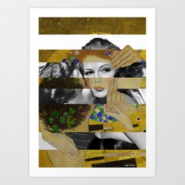 Klimt's The Kiss & Rita Hayworth with Glenn Ford Art Print