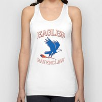 ravenclaw Tank Tops featuring Eagles Ravenclaw by Fresco Umbiatore