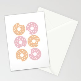 Six Sprinkled Donuts Stationery Cards