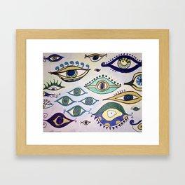"""Evil Eyes of Everywhere"" Framed Art Print"