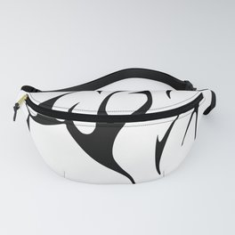 Tribal Wolf Tattoo Dog Fanny Pack