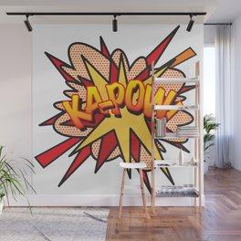 Comic Book Pop Art KA-POW Wall Mural